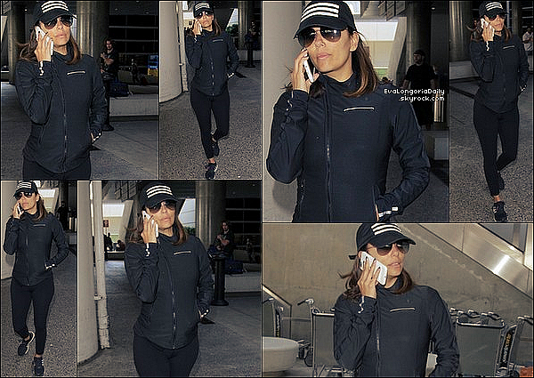 ✈️ Eva a été vue à LAX Airport.  o5 Septembre 2o16. Los Angeles - Etats-Unis. Tenue: Eva porte des Baskets Adidas à 95¤.