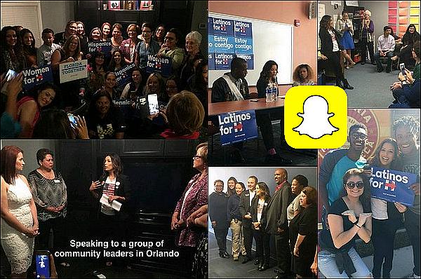 • 14 Octobre 2o16 •  - Orlando, Etats-Unis. ⭐ Eva est allée à « L'Université de Floride Centrale » pour la campagne présidentielle d'Hillary Clinton.