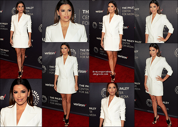 ✴️ Eva est allée au Media's Hollywood Tribute to Hispanic Achievements in Television qui se déroulait à The Paley Center.  24 Octobre 2o16. Beverly Hills - Etats-Unis. Tenue: Eva porte une Veste Vatanika à 580¤ & des Escarpins Olgana Paris.