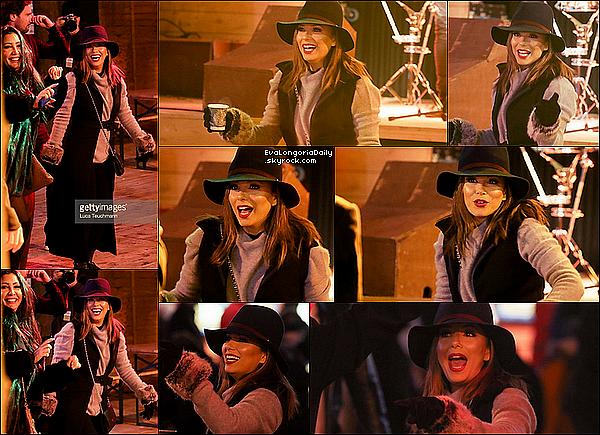 • 17 Novembre 2o16 •  - Londres, Angleterre. 🎡 Le soir, Eva est allée au « Winter Wonderland » dans le « Hyde Park ». Tenue: Chapeau Rag&Bone à 195¤, Manteau Victoria Beckham à 3825¤ & Sac Chanel à 169o¤.