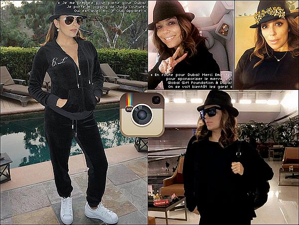 • 1o Décembre 2o16 •  - Dubaï, Emirats Arabes Unis. 📷 Eva a posté une « Photo d'Elle dans son Hôtel ».