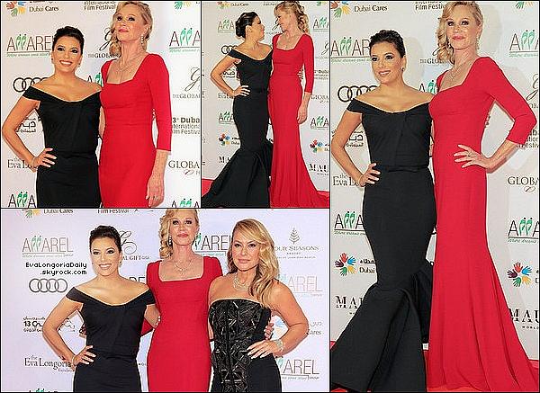 • 12 Décembre 2o16 •  - Dubaï, Emirats Arabes Unis. ⭐ Eva est allée au « Global Gift Gala » qui avait lieu au « Four Seasons Hotel ». Tenue: Robe Julea Domani à 895¤.