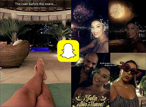 • 31 Décembre 2o16 •  - Acapulco, Mexique. 📷 Eva a posté des « Photos pour le Réveillon du Nouvel-An ».