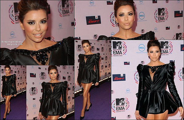 ✴️️ Eva est allée au 9th Annual 'Rock For The Cure' Gala qui avait lieu au Aria Resort & Casino.  11 Novembre 2010, Las Vegas - Etats-Unis. Tenue: Eva porte une Robe Jenny Packham & des Escarpins Salvatore Ferragamo.