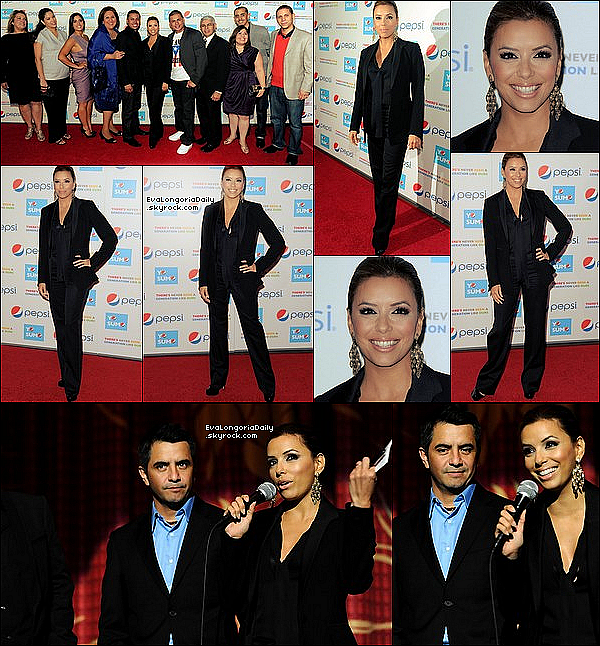 • 21 Octobre 2o1o •  - Hollywood, Etats-Unis. ⭐ Eva est allée au « Latinos Living The American Dream » qui avait lieu à « The Grauman's Chinese Theatre ».