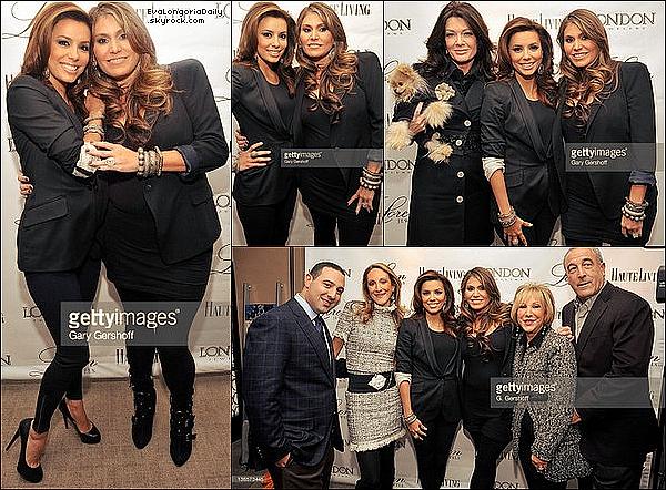 ✴️️ Eva est allée au Lancement de la collection de bijoux de son amie Loren Ridinger qui avait lieu au London Jewelers.  3o Octobre 2010. New-York - Etats-Unis.