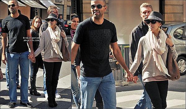 • 19 Septembre 2o1o •  - Paris, France. 🚶 Eva & Tony ont été vus dans les « Rues de Paris ».  Tenue: Sac Gérard Darel, Legging David Lerner à 55¤ & Bottes Brian Atwood.