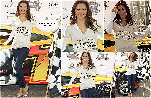 ✴️️ Le soir, Eva est allée au gala du Rally for Kids with Cancer.  25 Septembre 2010. Toronto - Canada.