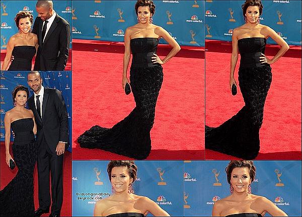 ✴️️ Eva & Tony sont allés au 62nd Annual Primetime Emmy Awards qui avait lieu au Nokia Theatre.  29 Août 2010. Los Angeles - Etats-Unis. Tenue: Eva porte une Robe Robert Rodriguez.
