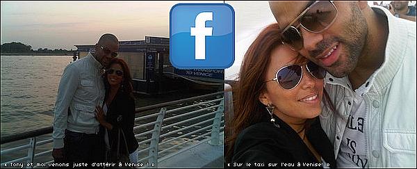 • 28 Juin 2o1o •  - Venise, Italie. 📷 Pour finir la journée, Eva a posté une « Photo d'Elle & Tony » à leur arrivée à Venise.  Tenue: Veste Elizabeth&James.