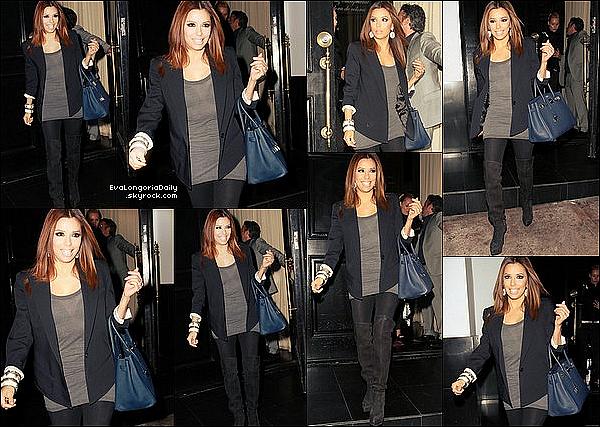 • 17 Avril 2o1o •  - Hollywood, Etats-Unis. 🍴 Eva est allée déjeuner au « Beso Restaurant » avec Mario Lopez.