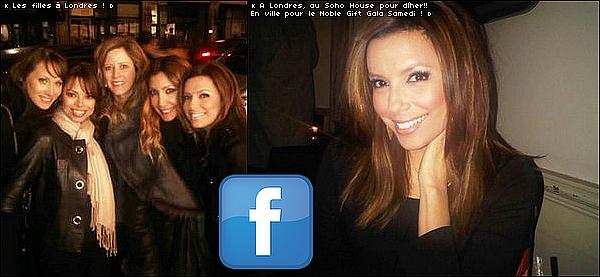 🍴 Le soir, Eva & ses amies sont allées dîner au Soho House Restaurant.  12 Mars 2o1o. Londres - Angleterre. Tenue: Eva porte un Manteau Burberry à 2640¤.