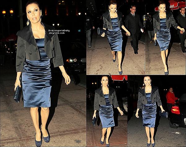 • o1 Mars 2o1o •  - Hollywood, Etats-Unis. 🍴 Le soir, Eva est allée dîner au « Beso Restaurant ».  Tenue: Escarpins Yves Saint-Laurent.