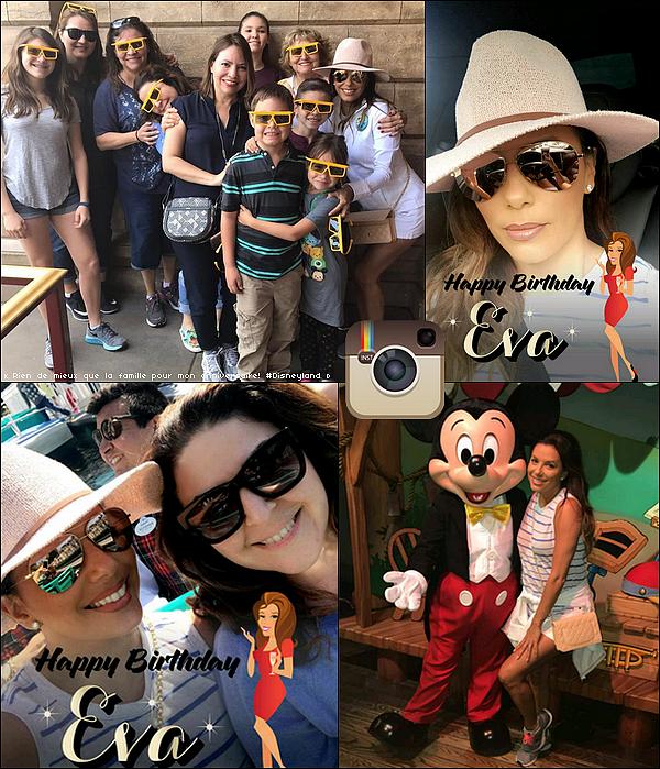 🎂 Pour son anniversaire, Eva & sa famille sont allés à Disneyland.  15 Mars 2o17. Anaheim - Etats-Unis.