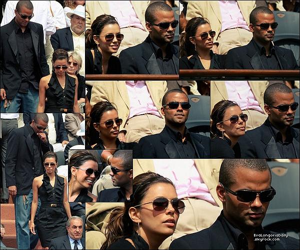 • o5 Juin 2oo9 •  - Paris, France. 🎾 Eva & Tony sont allés voir un match de Tennis lors du « Tournoi de Roland Garros ».