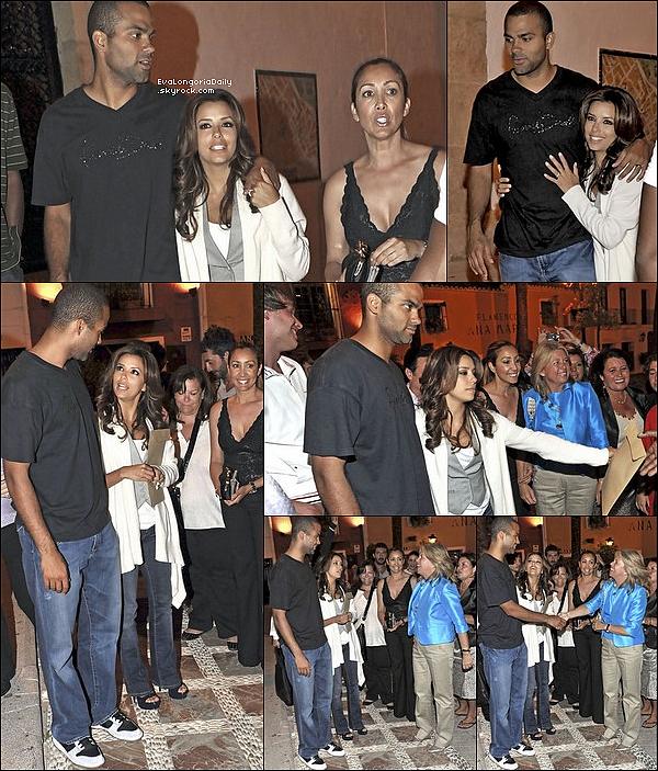 • 19 Juin 2oo9 •  - San Juan, Puerto Rico. ⭐ Enfin, Eva & Tony sont allés au « Bahia Beach Restaurant » pour le « Amaury Nolasco & Friends Golf Classic Closing Night After ». On voit qu'était aussi présent Chris Evans.