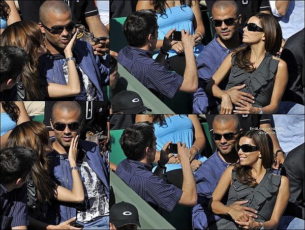• 29 Mai 2oo9 •  - Paris, France. 🎾 Eva & Tony sont allés voir un match de Tennis lors « Tournoi de Roland Garros ». Tenue: Lunettes Chanel à 33o¤.