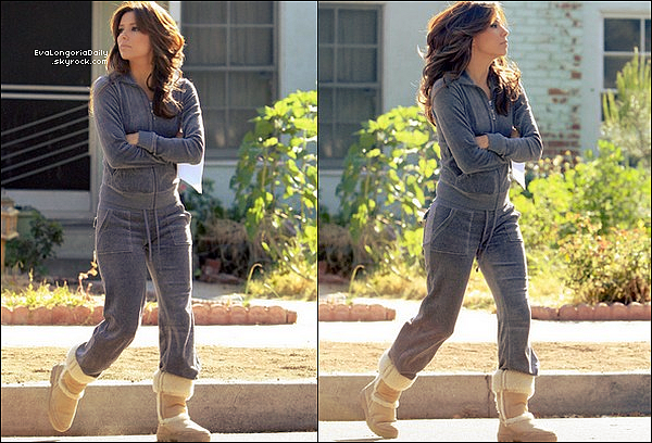 • 14 Avril 2oo9 •  - Los Angeles, Etats-Unis. 🎥 Eva a été vue sur le « Tournage de Desperate Housewives ».
