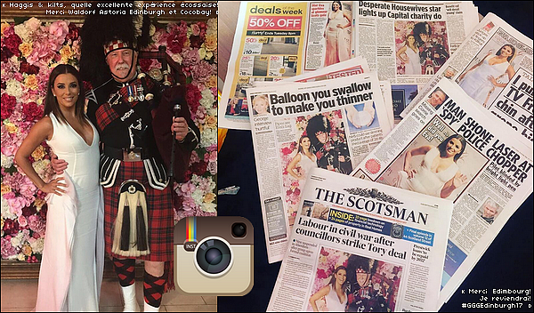 ✴️ Eva s'est rendue au Global Gift Gala qui avait lieu à The Caledonian Hotel.  17 Mai 2o17. Édimbourg - Ecosse. Tenue: Eva porte une Robe Genny & des Escarpins Cesare Paciotti.