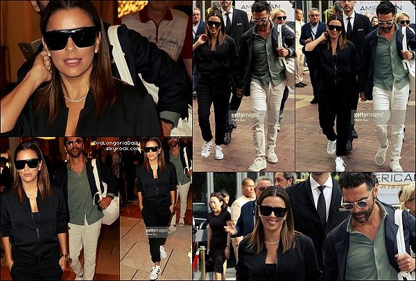 • 18 Mai 2o17 •  - Cannes, France. 🍴 Le soir, Eva & Pepe ont été vus allant « Dîner au Restaurant ». Tenue: Combinaison David Koma & Pochette Christian Louboutin.