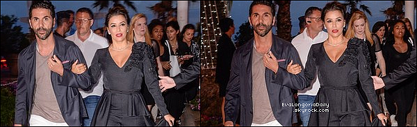• 22 Mai 2o17 •  - Cannes, France. ⭐ Le soir, Eva & Pepe sont allés à l'After Party de « The Killing Of A Sacred Deer ». Tenue: Escarpins Olgana à 675¤.