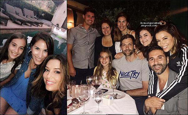 • 16 Juin 2o17 •  - Malibu, Etats-Unis. 🍴 Le soir, Eva & Pepe sont allés dîner au « Nobu Restaurant ». Tenue: Pochette Valentino à 1515¤ & Compensés Christian Louboutin.