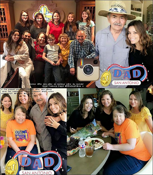 👪 Eva a passé le week-end en famille pour la Fête des Pères.  18 Juin 2o17.San Antonio - Etats-Unis.