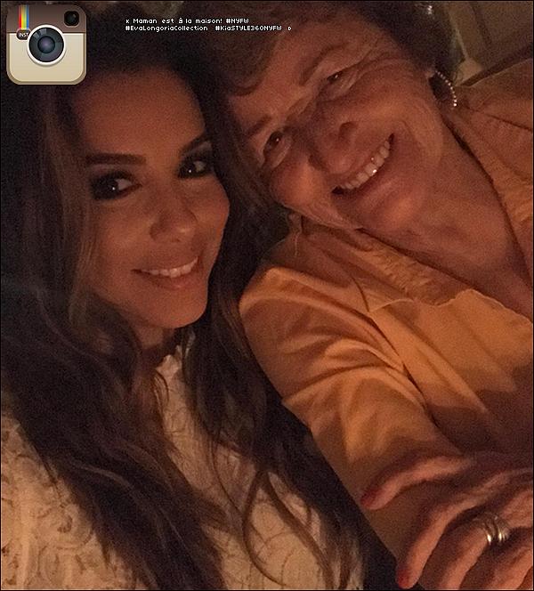 • 12 Septembre 2o17 •  - New-York, Etats-Unis. 📷 Eva a posté une « Photo d'Elle & sa Maman ».