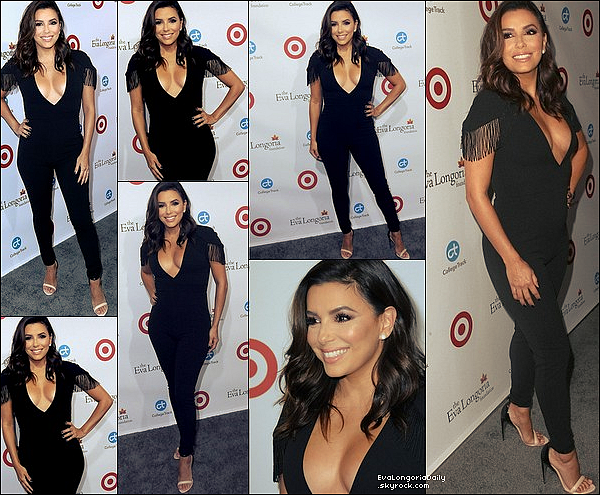 • 14 Octobre 2o17 •  - Beverly Hills, Etats-Unis. ⭐ Eva est allée au « Samuel Goldwyn Theater » pour « The 2017 Careers In Film Summit ». Tenue: Pantalon Eva Longoria Collection à 21o¤.