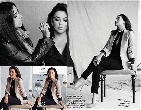 • Novembre 2o17 •  - Mexique. 📷 Eva fait la Couverture de « Quien Magazine ».