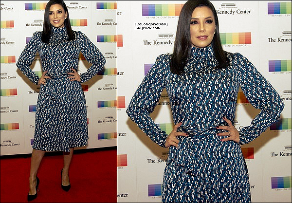✴️ Eva est allée au 2017 Kennedy Center Honors Formal Artist's Dinner.  o2 Décembre 2o17. Washington - Etats-Unis.Tenue: Eva porte une Robe Eva Longoria Collection à 85¤.