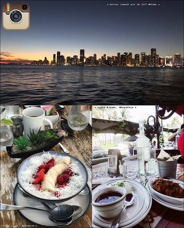 • 28 au 3o Décembre 2o17 •  - Miami, Etats-Unis. 📷 Eva a posté des « Photos sur Instagram ».