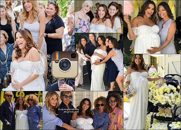 • o5 Mai 2o18 •  - Los Angeles, Etats-Unis. 🎉 Eva a organisé sa « Babyshower » à la « Lombardi House ».