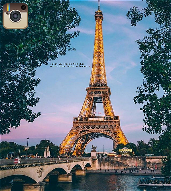 📷 Eva a Félicité la France pour sa victoire en Coupe du Monde de Football.  15 Juillet 2o18. Los Angeles - Etats-Unis.