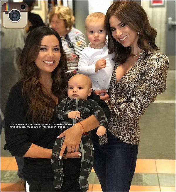 • o6 Septembre 2o18 •  - Los Angeles, Etats-Unis. 🎥 Eva & Santiago étaient sur le « Tournage de Grand Hotel » avec Roselyn Sanchez.