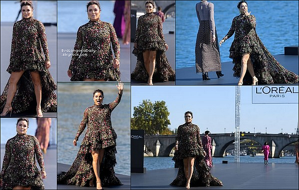 🚶 Ensuite, Eva a participé à la L'Oréal Fashion Show. 3o Septembre 2018. Paris, France.