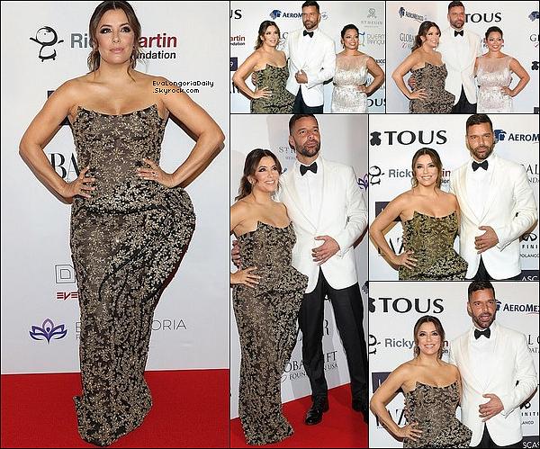 • o4 Octobre 2o18 •  - Mexico, Mexique. ⭐ Eva est allée au « Global Gift Gala » qui avait lieu au « St Regis Hotel ».
