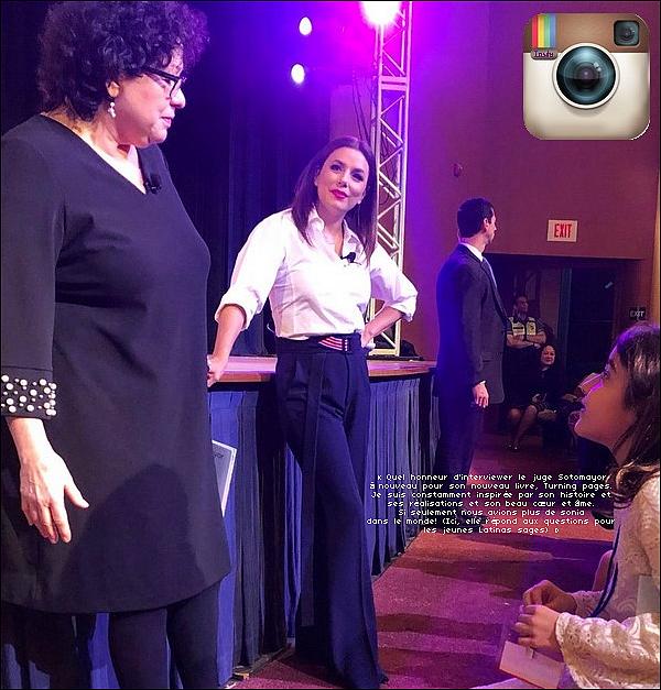 📷 Eva a posté une Photo d'Elle & Santiago.  o6 Mars 2o19. Toronto, Canada. Tenue: Eva porte un Pull Victoria Beckham.