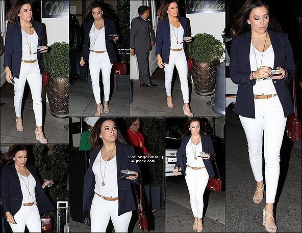 🍴 Le soir, Eva & Pepe sont allés dîner à Mr Chow Restaurant avec Ella, la Maman d'Eva.  12 Avril 2o19. Beverly Hills - Etats-Unis. Tenue: Eva porte un Sac Chanel.
