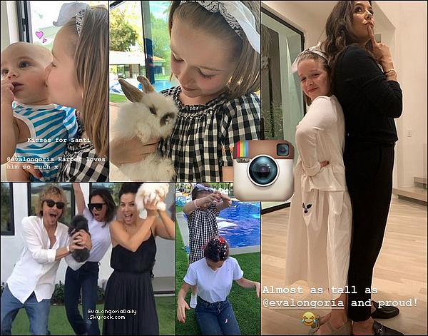 """✴️ Le soir, Eva est allée au Lancement du Livre de Cuisine """"Eat Clean Play Dirty"""".  16 Avril 2o19. Beverly Hills - Etats-Unis. Tenue: Eva porte des Lunettes Victoria Beckham à 375¤ & un Sac Chanel à 221o¤."""