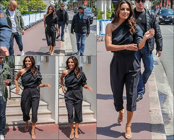  Eva & Santiago ont été vus Faisant un Photoshoot sur une plage de Cannes.  15 Mai 2o19. Cannes - France. Tenue: Eva porte des Escarpins Aquazzura à 915¤.