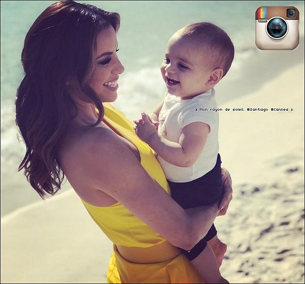 📷 Eva & Santiago ont été vus Faisant un Photoshoot sur une plage de Cannes.  15 Mai 2o19. Cannes - France. Tenue: Eva porte des Escarpins Aquazzura à 915¤.