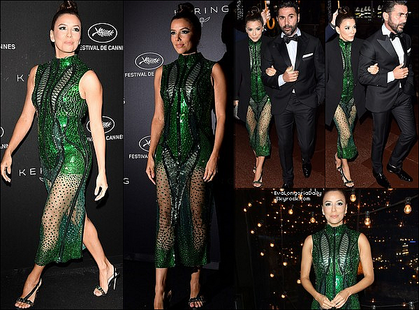 • 19 Mai 2o19 •  - Cannes, France. ⭐ Le soir, Eva & Pepe sont allés au « Kering Women In Motion Awards ». Tenue: Robe Atelier Zuhra & Escarpins Olgana.