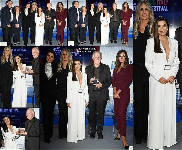✴️ Le soir, Eva & Pepe sont allés au Kering Women In Motion Awards.  19 Mai 2o19. Cannes - France. Tenue: Eva porte une Robe Atelier Zuhra & des Escarpins Olgana.