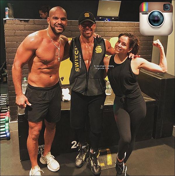 • 15 Juin 2o19 •  - New-York, Etats-Unis. 🥊 Eva & Amaury sont allés faire du sport à la salle « Switch Playground SoHo ».