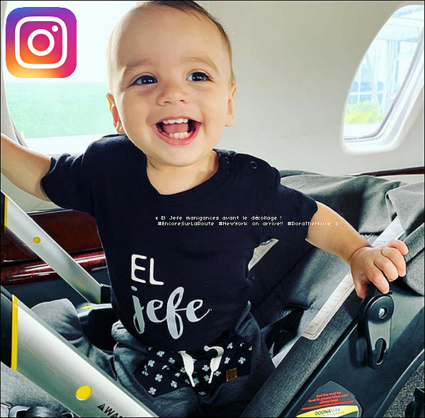 • o4 Août 2o19 •  - Los Angeles, Etats-Unis. 📷 Eva a posté une « Photo de Santiago ».