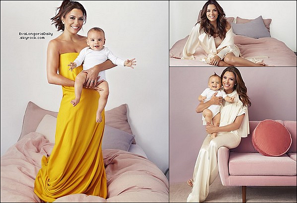 • Août 2o19 •  - Etats-Unis. 📷 Puis, Eva fait la Couverture de « Parent Magazine » avec Santiago.