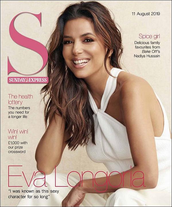 • Août 2o19 •  - Etats-Unis. 📷 Eva fait la Couverture de « Sunday Magazine ».