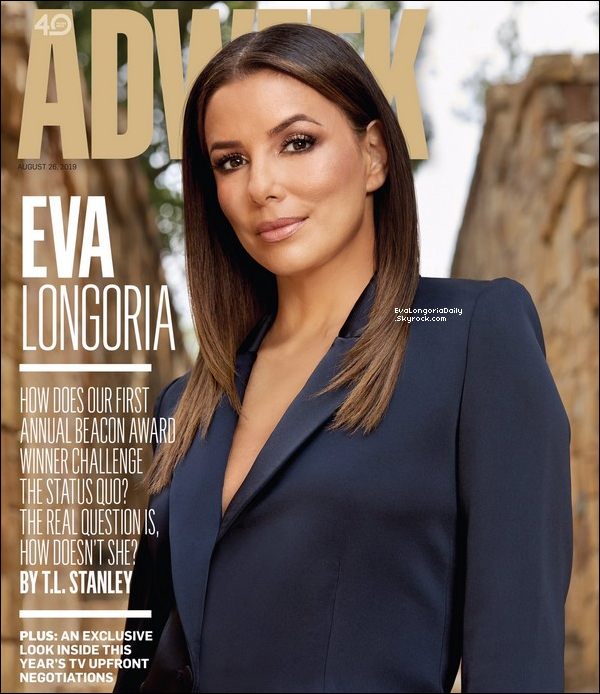📷 Eva fait la Couverture de Adweek Magazine.  Aout 2o19. Etats-Unis.