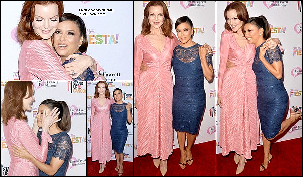 • o6 Septembre 2o19 •  - Beverly Hills, Etats-Unis. ⭐ Eva s'est rendue à « The Farrah Fawcett Foundation's Tex-Mex Fiesta » qui avait lieu au « Wallis Annenberg Center for the Performing Arts ». Elle y a notamment retrouvé Marcia Cross, Alana Stewart, Jacklyn Smith & Carole Bayer Sager. Tenue: Escarpins Gianvito Rossi.